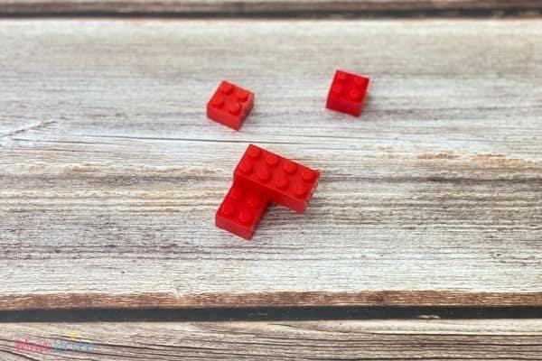 Mini LEGO Heart Blocks 2 Bricks