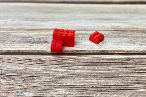 Mini LEGO Heart Blocks 3 Bricks