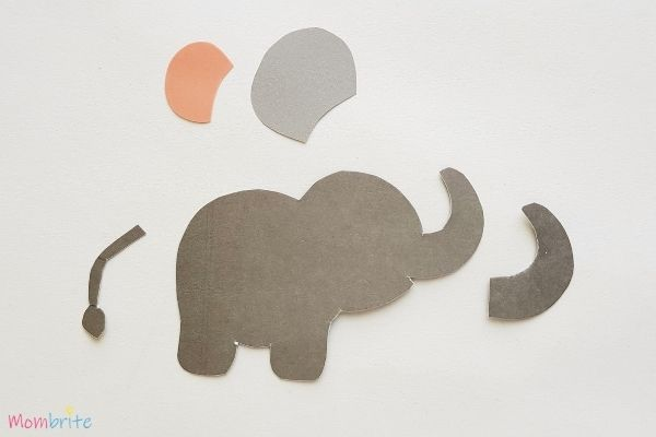 Paper Elephant Craft Step 2