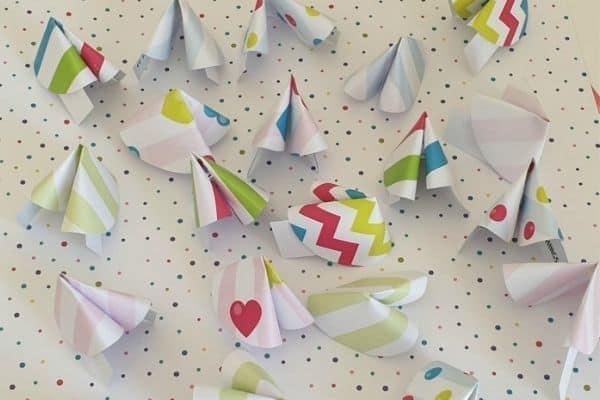 Paper Fortune Cookies Craft