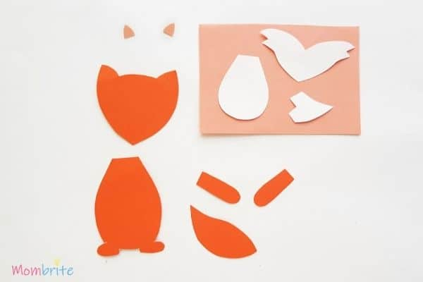 Paper Fox Craft Template Pattern