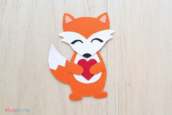 Paper Fox Craft with Heart
