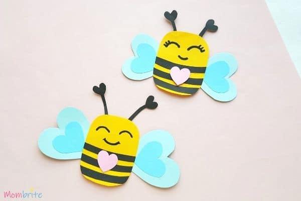 Paper Heart Bee Craft 1
