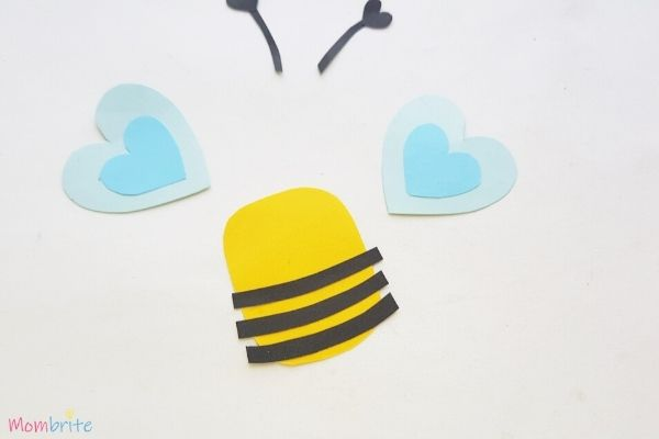 Paper Heart Bee Craft Step 5