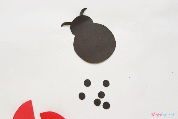 Paper Ladybug Craft Body