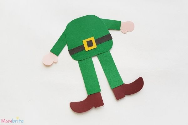 Paper Leprechaun Craft Assemble Body