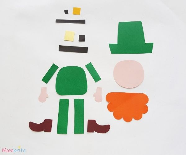 Paper Leprechaun Craft Template Patterns
