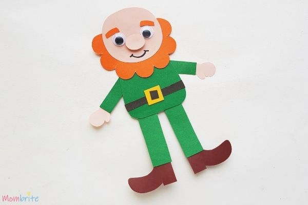 Paper Leprechaun Craft Without Hat