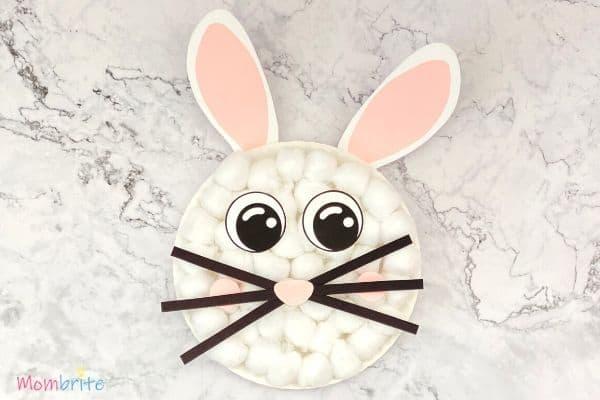 Cotton Ball Bunny Craft