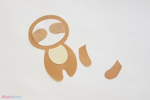 Paper Sloth Craft Step 5