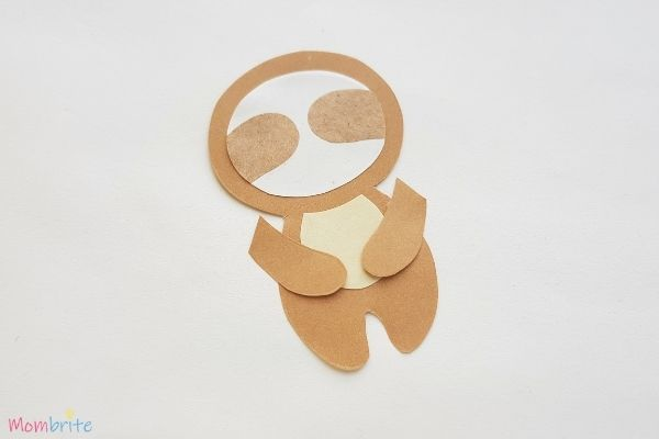Paper Sloth Craft Step 7