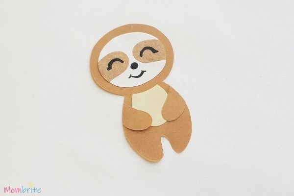 Paper Sloth Craft Step 8