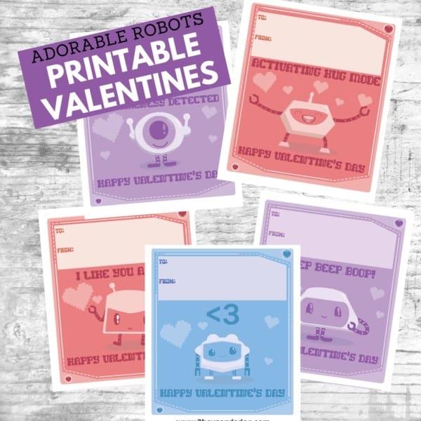Printable Robots Valentine