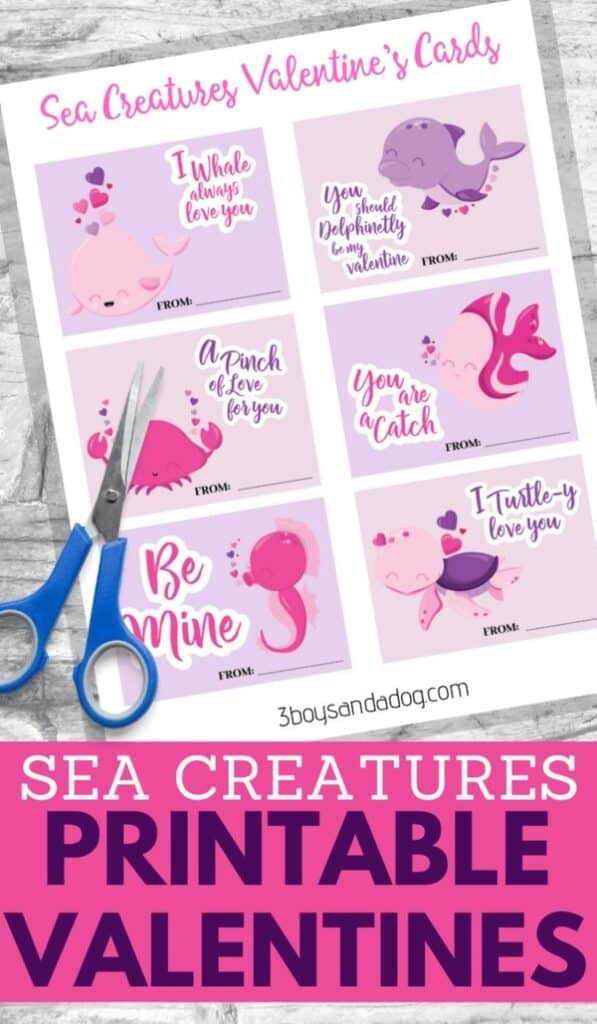 Printable Sea Creatures Cards