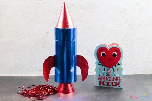 Rocket Valentine Card Box for Boys