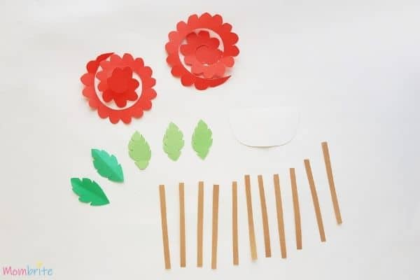 Rolled Rose Flower Basket Patterns