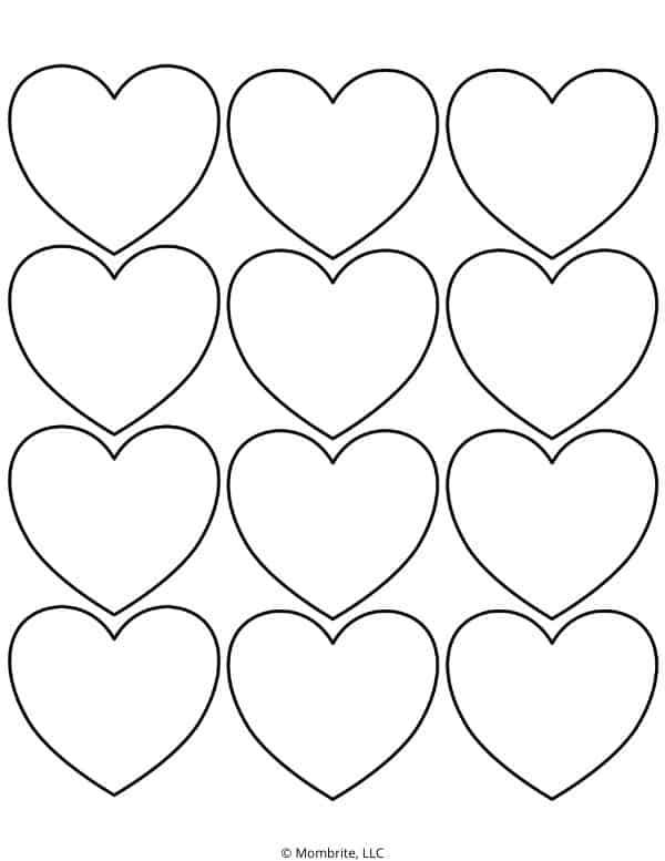 Small Heart Template