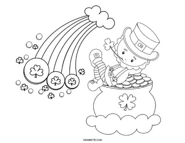 St. Patrick's Day Rainbow Coloring Page (1)