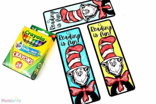 The Cat in the Hat Dr. Seuss Bookmark Color
