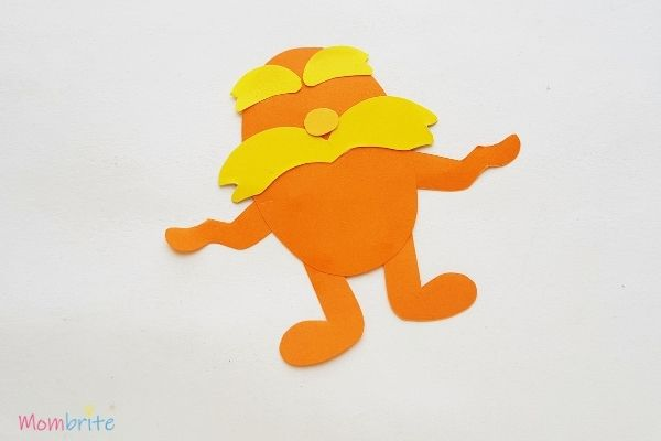 The Lorax Paper Craft Glue Arms