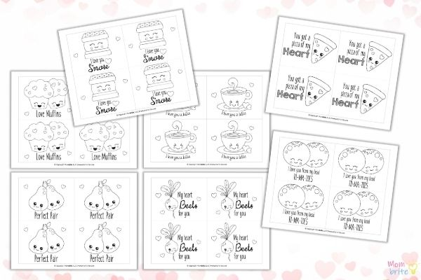 Free Printable Valentine's Day Coloring Cards Mombrite