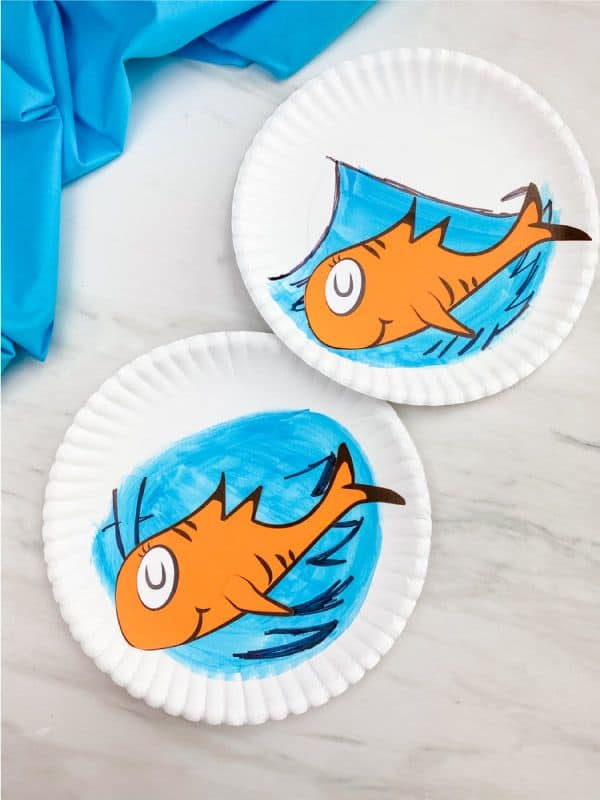 Dr. Seuss Paper Plate Fish Craft