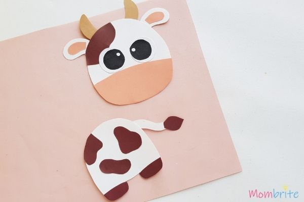 Cow Craft Glue Eyes and Spots