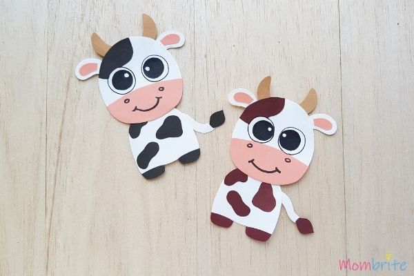 Cow Crafts Black and Brown