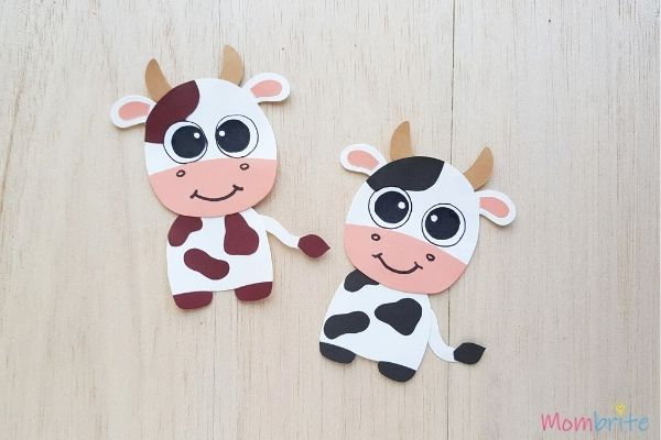 Cow Crafts Brown and Black