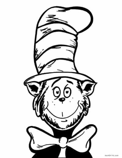 Dr. Seuss Coloring Page Cat in the Hat