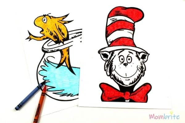 Free Printable Dr Seuss Coloring Pages Mombrite