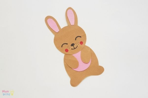 Easter Bunny Bookmark Craft Draw Face