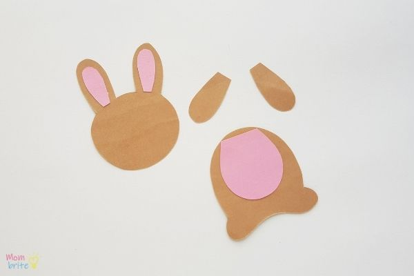 Easter Bunny Bookmark Craft Glue Ears and Belly