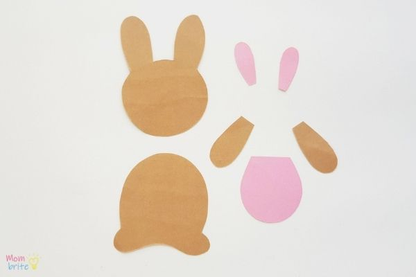 Easter Bunny Bookmark Craft Template Pieces