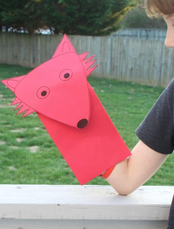 Fox Paper Bag Puppet