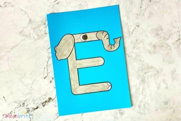 Letter E Craft Elephant (3)