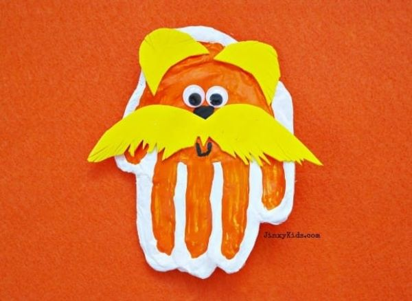 Lorax Handprint Craft