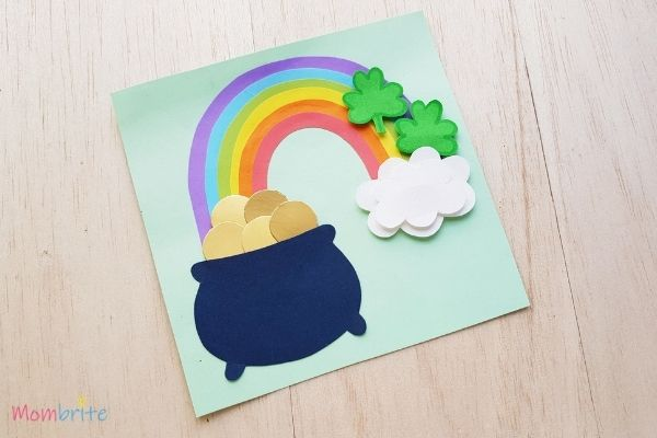 Pot of Gold Craft Decorate with Shamrocks