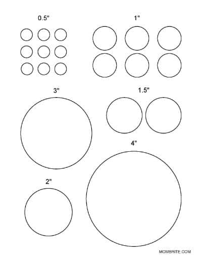 Small Circle Set Template