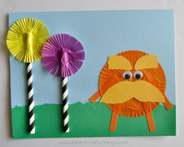 The Lorax Cupcake Liner Craft