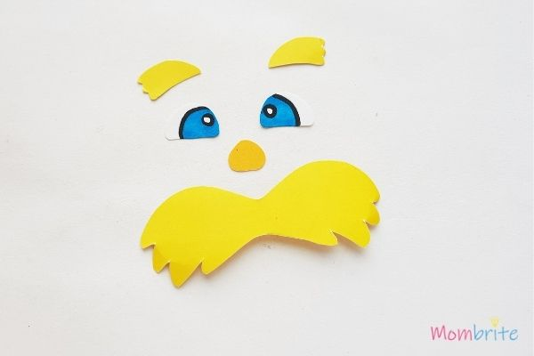 The Lorax Paper Toilet Paper Roll Craft Eyebrows Eyes Nose and Mustache