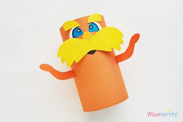 The Lorax Paper Toilet Paper Roll Craft Glue Arms
