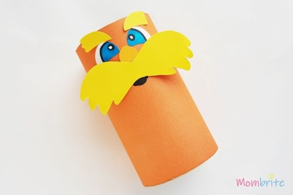 The Lorax Paper Toilet Paper Roll Craft Glue Mustache