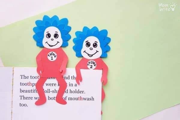 Thing 1 Thing 2 Dr. Seuss Bookmarks (1)