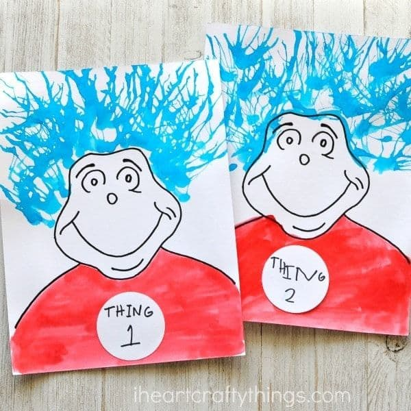 Thing 1 and Thing 2 Painting