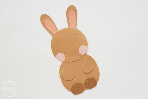 Easter Bunny Egg Holder Craft Glue Head to Body