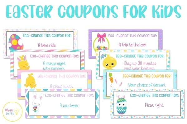 Easter Coupons for Kids