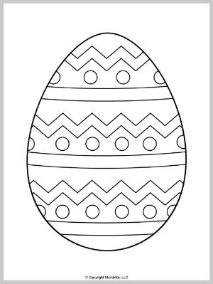 Easter Egg Coloring Page (1)