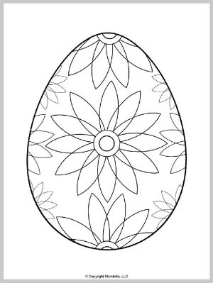 Easter Egg Coloring Page (2)