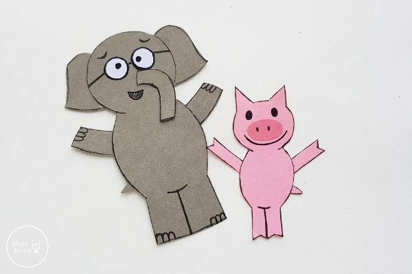 Elephant & Piggie Craft Draw Faces and Outlines
